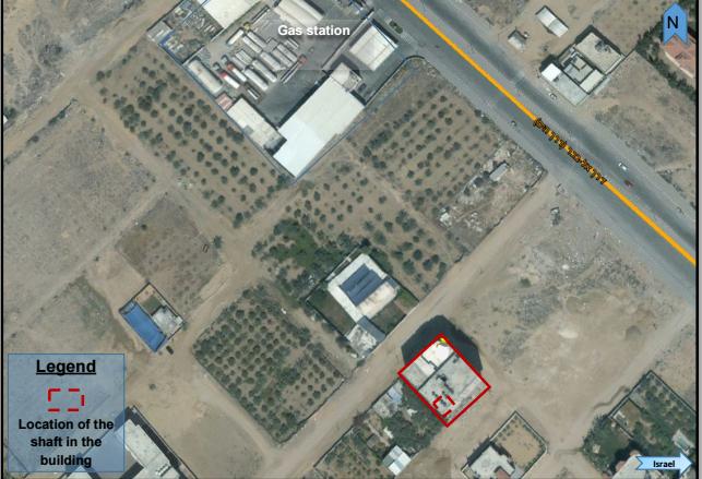 Image satellite de l'armée israélienne révélant l'existence de tunnels offensifs du Hamas à Gaza