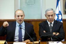 """رئيس الوزراء الاسرائيلي نتنياهو وزعيم حزب """"البيت اليهودي"""" بينيت"""