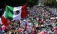 Thousands of Mexicans take part in an anti-Trump march in Mexico City, on February 12, 2017