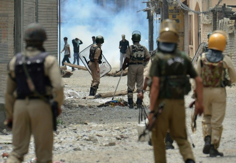 Kashmiri authorities imposed a harsher curfew on the restive territory in a bid to prevent new demonstrations but protests continued on July 10, 2016