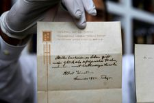 Einstein note on happy living sells for $1.56 mln