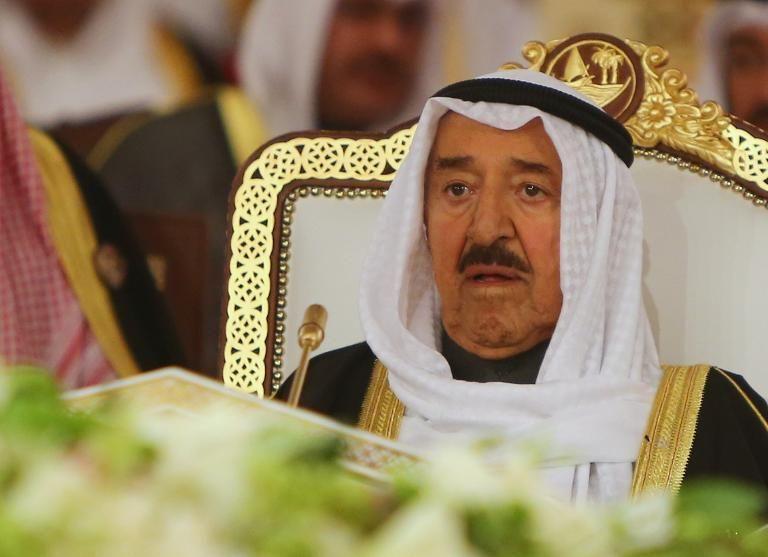 L'émir du Koweït, cheikh Sabah al-Ahmad al-Sabah, le 9 décembre 2014 à Doha