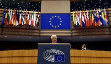 Le président palestinien Mahmoud Abbas prononce un discours à Bruxelles, le 23 juin 2016