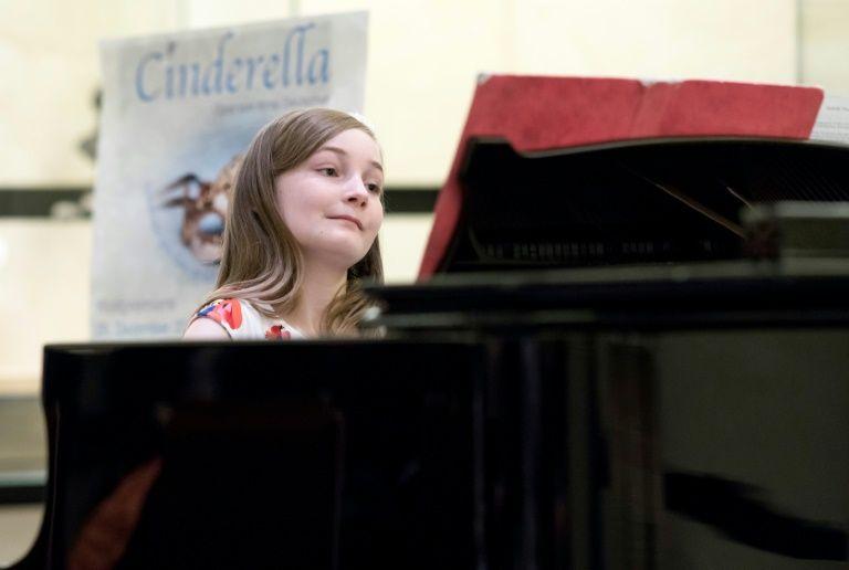 11-year-old Alma Deutscher performs at The Wiener Musikverein in Vienna, on October 6, 2016