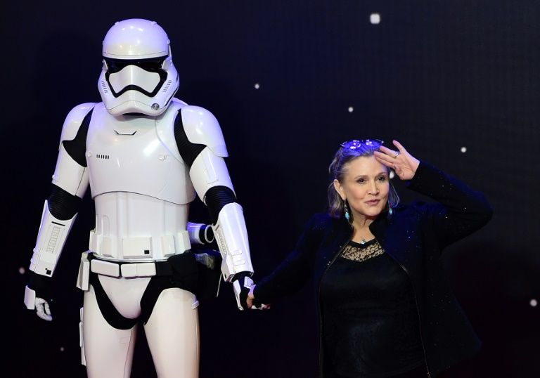 Carrie Fisher on December 16, 2015 in London