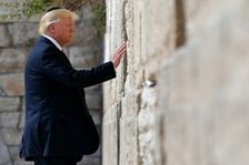 US President Donald Trump visits the Western Wall, the holiest site where Jews can pray, in Jerusalem's Old City on May 22, 2017