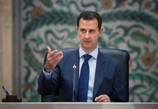 "President Bashar al-Assad said only the Syrian people could ""define who's going to be the president"""