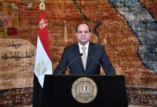 صورة نشرتها الرئاسة المصرية في 25 ك2/يناير 2017 للرئيس عبد الفتاح السيسي يلقي كلمة متلفزة