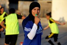 Palestinian girl footballers smash cultural taboos about a 'man's game'