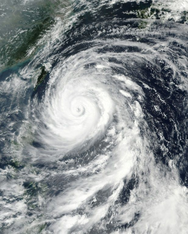 Typhoon Megi moves across the western Pacific on September 26, 2016