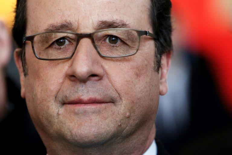 François Hollande au palais de justice de Pontoise, le 7 février 2017
