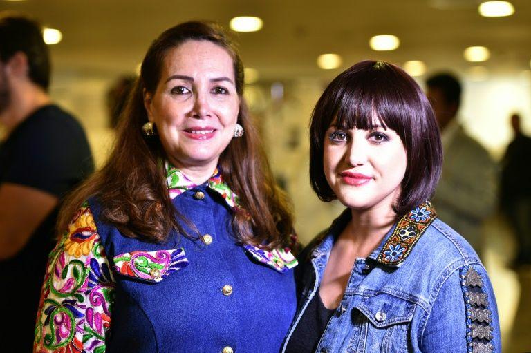 Les créatrices Suzan Farhoud (g) et Leen Shieshakly, le 8 octobre 2016 à l'Arab Fashion Week de Dubaï
