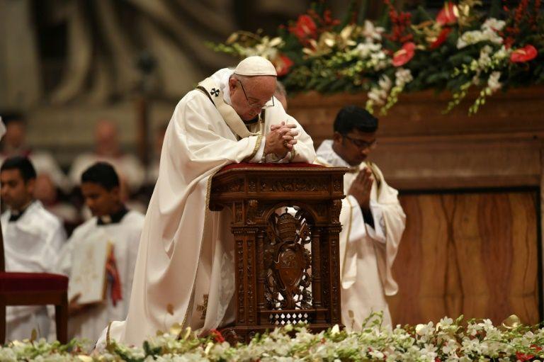 Le pape François lors de sa traditionnelle homélie de Noël, le 24 décembre 2016 au Vatican