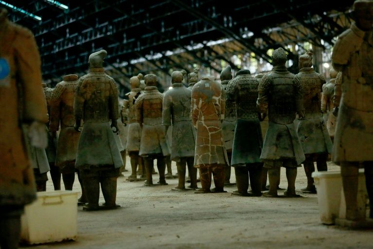 The 8,000-man clay Terracotta Army, crafted around 250 BC for the tomb of China's first emperor Qin Shihuang, is a UNESCO world heritage site and a major tourist draw