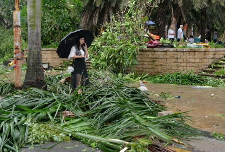 Typhoon Meranti, packing winds of 170 kilometres per hour (105 miles per hour) made landfall near the Chinese city of Xiamen before heading inland
