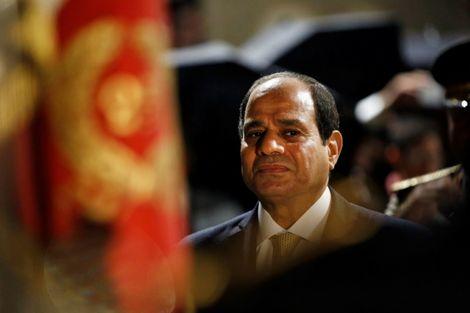 Le président égyptien Abdel Fattah Al-Sissi le 23 octobre 2017 en visite officielle à Paris