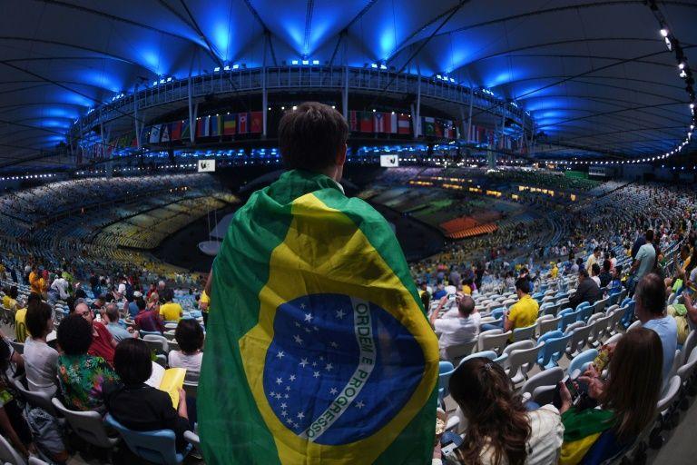 Le stade Maracana de Rio avant la cérémonie d'ouverture des JO, le 5 août 2016