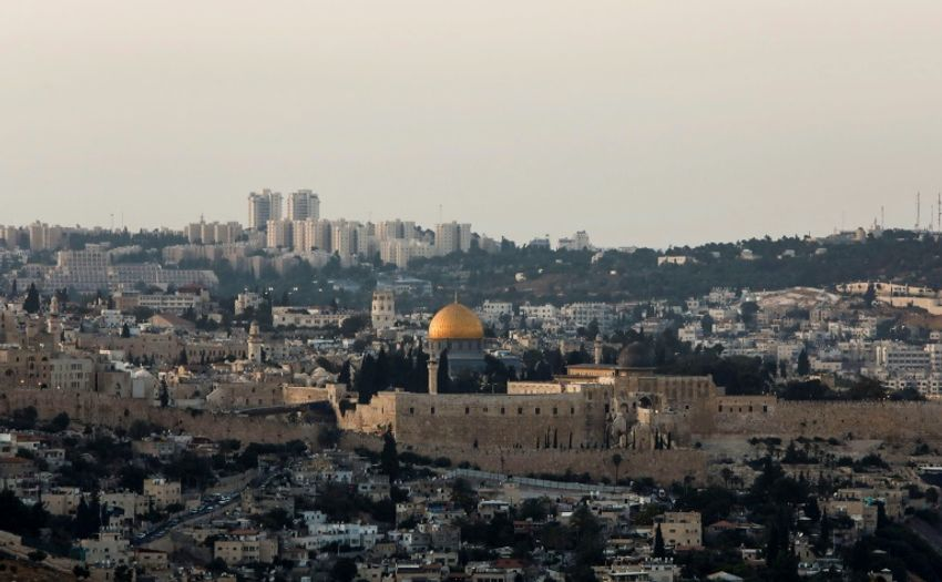 A general view of Jerusalem's Old City skyline is seen from the west in July 2017, with the Golden Dome of the Rock seen in the centre of Al-Aqsa mosque compound, also known as the Haram al-Sharif or to Jews as the Temple Mount