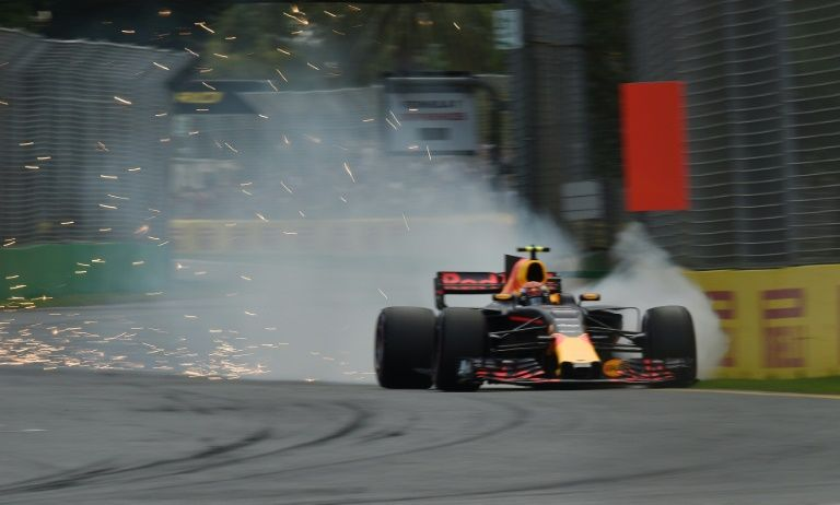 Australia's big hope Daniel Ricciardo crashed his Red Bull at turn 14 looking to post a good time in Q3 and will start 10th off the grid