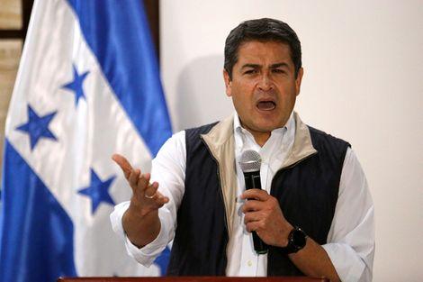 Le président du Honduras Juan Orlando Hernandez, le 4 décembre 2017 à Tegucigalpa