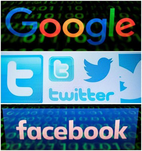 شعارات غوغل وتويتر وفيسبوك.