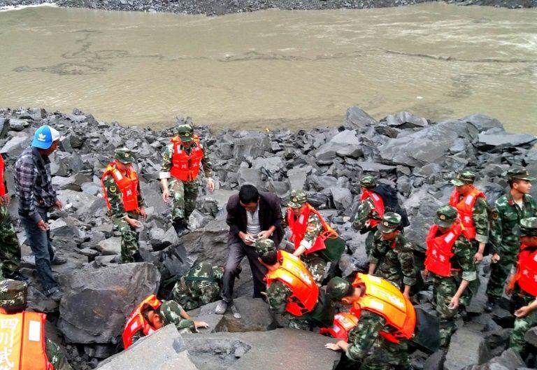 Eboulement en Chine: plus de 100 disparus, 15 corps déjà retrouvés