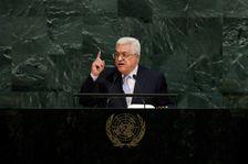 Le président de l'Autorité palestinienne Mahmoud Abbas s'adressant à l'Assemblée générale de l'ONU le 20 septembre 2017