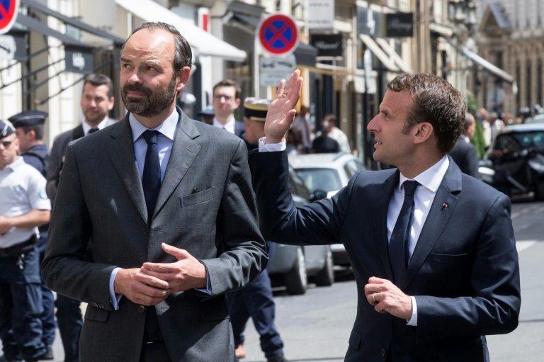 Le Premier ministre Edouard Philippe et le président Emmanuel Macron à Paris le 23 mai 2017 Etienne LAURENT