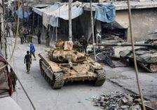 Les forces pro-gouvernementales le 12 décembre 2016 dans le quartieral-Salihin d'Alep-est