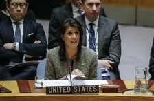 """US Ambassador to the United Nations Nikki Haley warned Pyongyang that if war were to erupt, the North Korean regime would be """"utterly destroyed"""""""