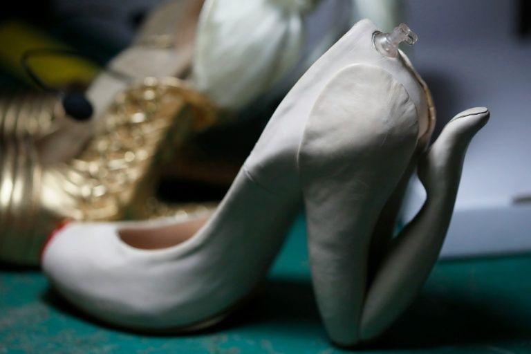 "A shoe called ""Blow"" created by Israeli designer Kobi Levi at his workshop in Tel Aviv"