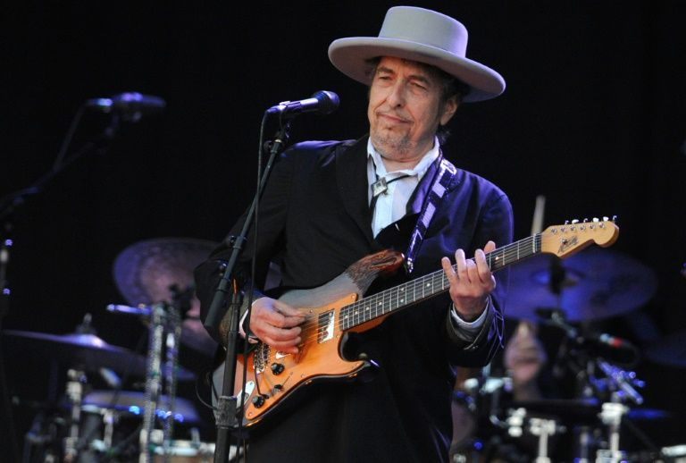 US songwriter Bob Dylan, pictured in 2012, will not be in Oslo to collect his Nobel Prize in Literature