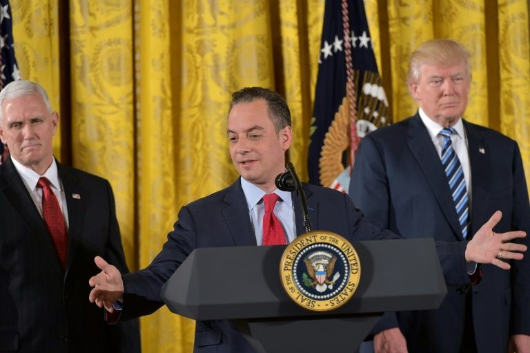 Trump chief-of-staff Priebus heads back to DC after Saudi visit