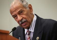 """US Representative John Conyers, pictured on September 18, 2015, said that the FBI's legal efforts could be seen as an """"end run"""" around the legislative process to step up its access to encrypted devices"""