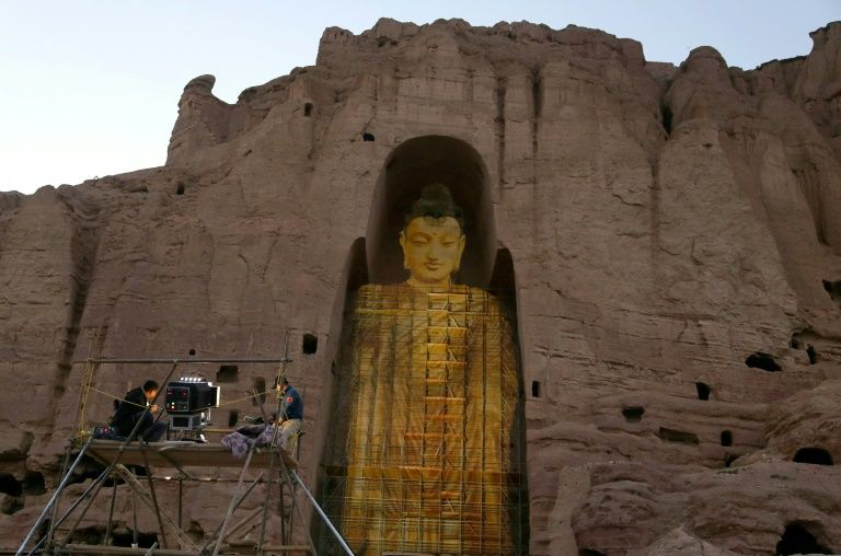 The statue of Buddha was destroyed by the Taliban in 2001