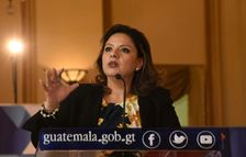 Guatemalan Foreign Minister Sandra Jovel answers questions during a press conference at the Culture Palace in Guatemala City on December 27, 2017