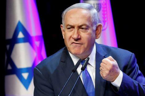 Israeli Prime Minister Benjamin Netanyahu addresses a conference in Tel Aviv on March 27, 2018