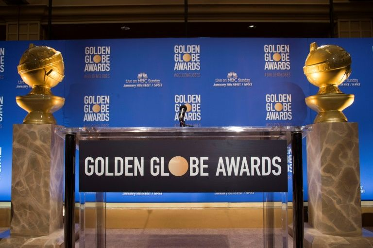 Le pupitre où sont annoncées les nominations des Golden Globes à Belverly Hills en Californie, le 12 décembre 2016