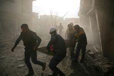 New raids on Syria rebel enclave kill 45 civilians: monitor