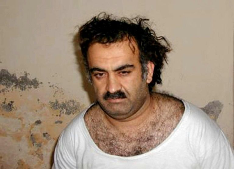 Khalid Sheikh Mohammed, alleged organiser of the September 11, 2001 attacks, pictured shortly after his capture on March 1, 2003 in a photo obtained in Rawalpindi, Pakistan
