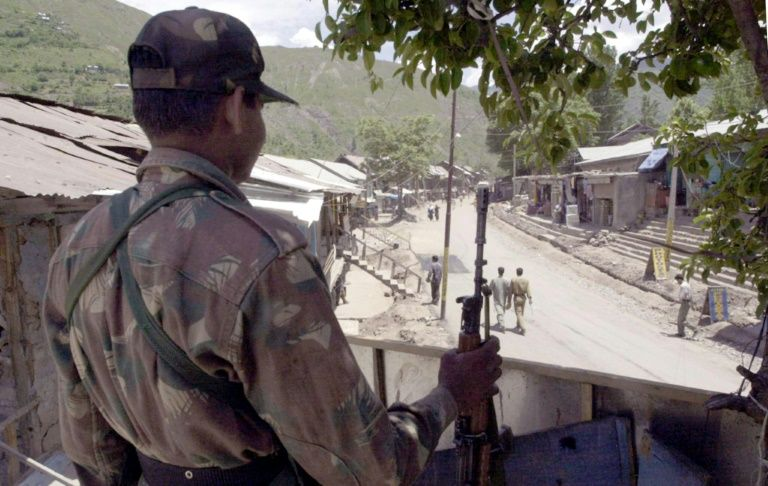 The Indian garrison in Uri is situated close to the Line of Control -- the dividing line between Indian and Pakistani-administered areas of Kashmir