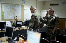 Des militaires au centre de commandement de Vigipirate, le 21 janvier 2015 à Saint-Germain-en-Laye