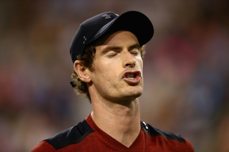 Andy Murray à Indian Wells en Californie pendant son match perdu face au Canadien Vasek Pospisil, le 11 mars 2017