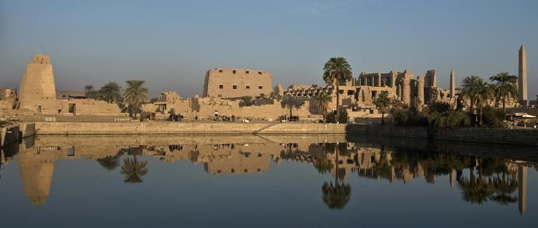The Temple of Karnak, in the southern Egyptian city of Luxor, December 21, 2013