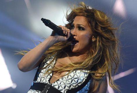 La chanteuse américaine Jennifer Lopez, au festival Mawazine à Rabat, le 29 mai 2015