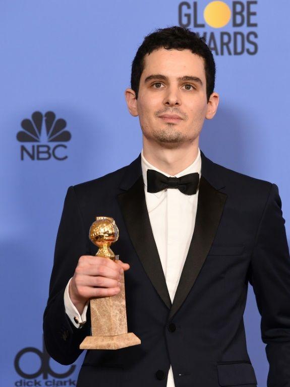 """Golden Globe for best director  """"La la land"""", Damien Chazelle, January 8, 2017"""