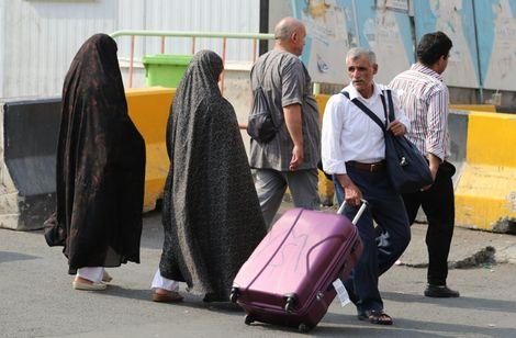 حاج إيراني في مكة المكرمة في 29 آب/أغسطس 2017 عشيرة بدء مناسك الحج