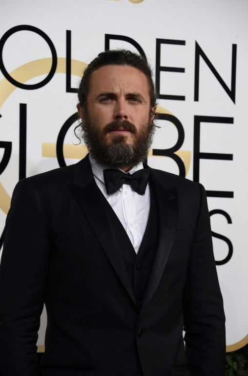 """Casey Affleck, Golden Globe for best dramatic actor for """"Manchester by the Sea"""", January 8, 2017"""