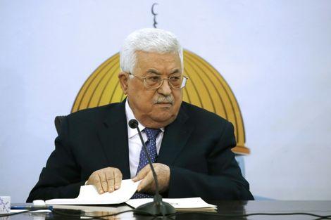 Le président de l'Autorité palestinienne Mahmoud Abbas lors d'une réunion du conseil consultatif du parti Fatah, à Ramallah en Cisjordanie, le 9 décembre 2018