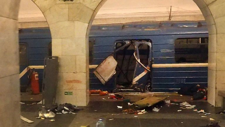 Russian police check suspicious object in St. Petersburg
